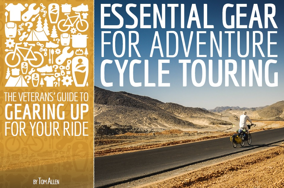 Forside essential gear guide for adventure cycle touring.