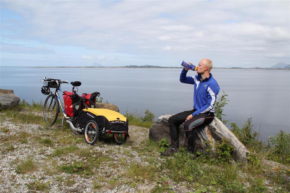 Jeg kan nok trenge noen pauser underveis. Her fra Helgelandskysten på en tidligere tur.