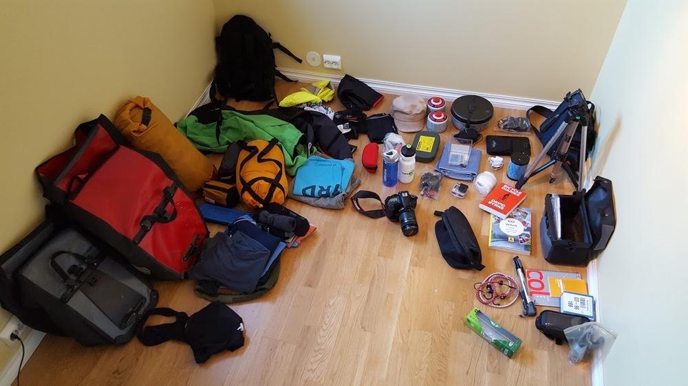 Mesteparten av utstyret samla. Trur det er brukbar orden i kaoset.