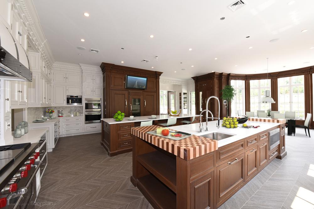 Virtually Staged Image of 15 Dupont Circle Kitchen
