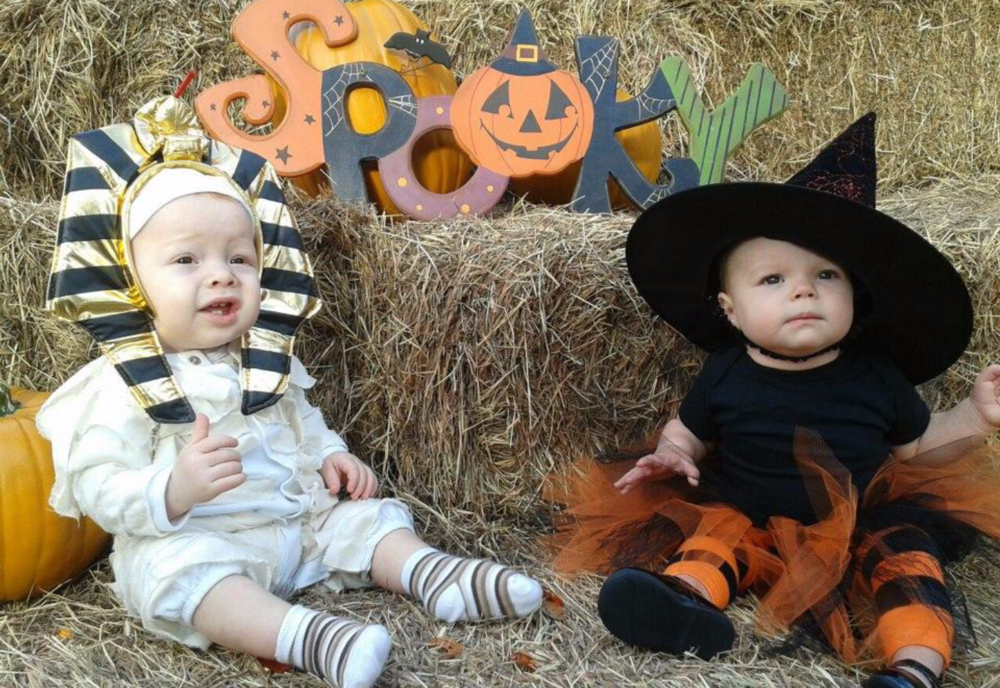 My Nathaniel (and his cousin Chloe) at their first Boo at the Ranch in 2012.