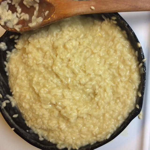 finished risotto