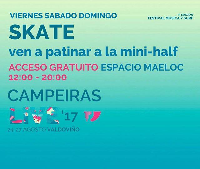 Y muchas mas actividades que podrás hacer en CAMPEIRAS LIVE!!!! Pasate por el Espacio Maeloc a partir del viernes a las 12:00 todo a punto! #campeiraslive17 #campeiraslive #campeiras #live #festival #donaMúsica #donaMusica #surf #surfing #music #musica #galicia #galifornia #skate #market #diseño #naturaleza #nature #design