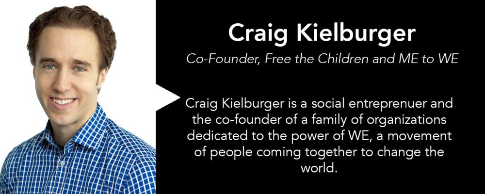 Twitter:  @CraigKielburger