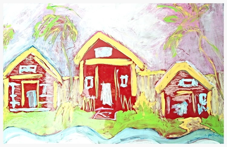 "Island Retreat   Size: 22"" * 33""   Giclees on stretched canvas or art paper are available for purchase. Contact artist for pricing."