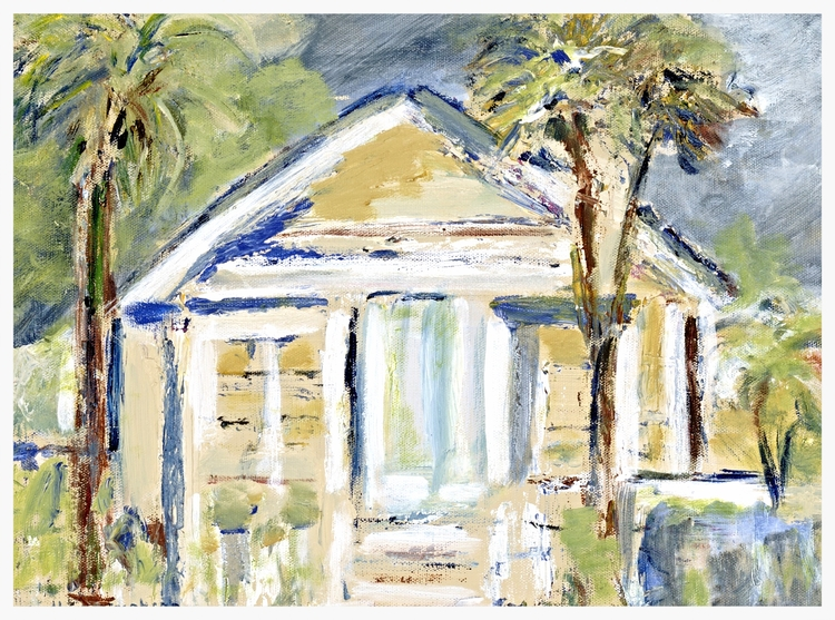 "Bungalow   Size: 12"" * 16""   Giclees on stretched canvas or art paper are available for purchase. Contact artist for pricing."