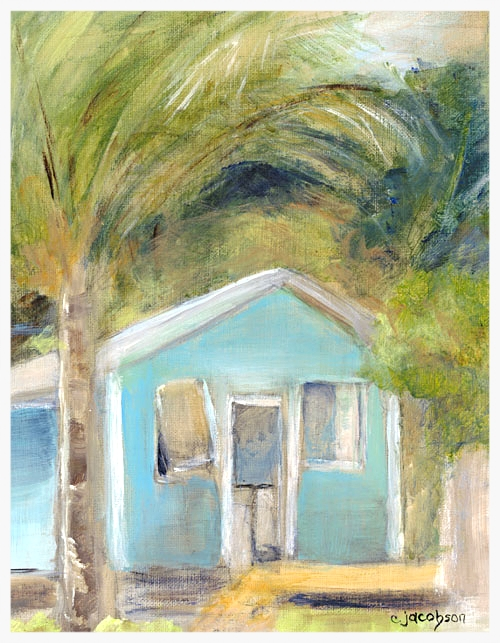 "Beach Cottage IV   Size: 14"" * 11""   Giclees on stretched canvas or art paper are available for purchase. Contact artist for pricing."