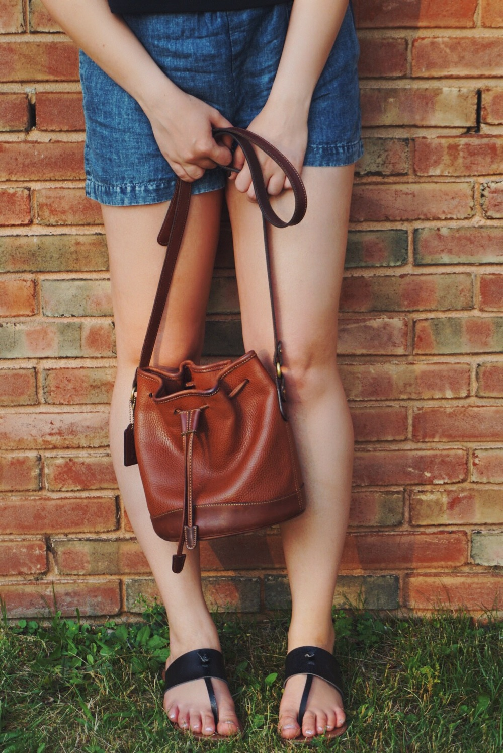 summer fashion vintage coach bag