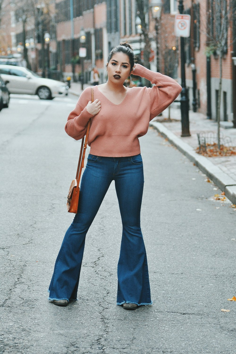 seventies fashion flare jeans