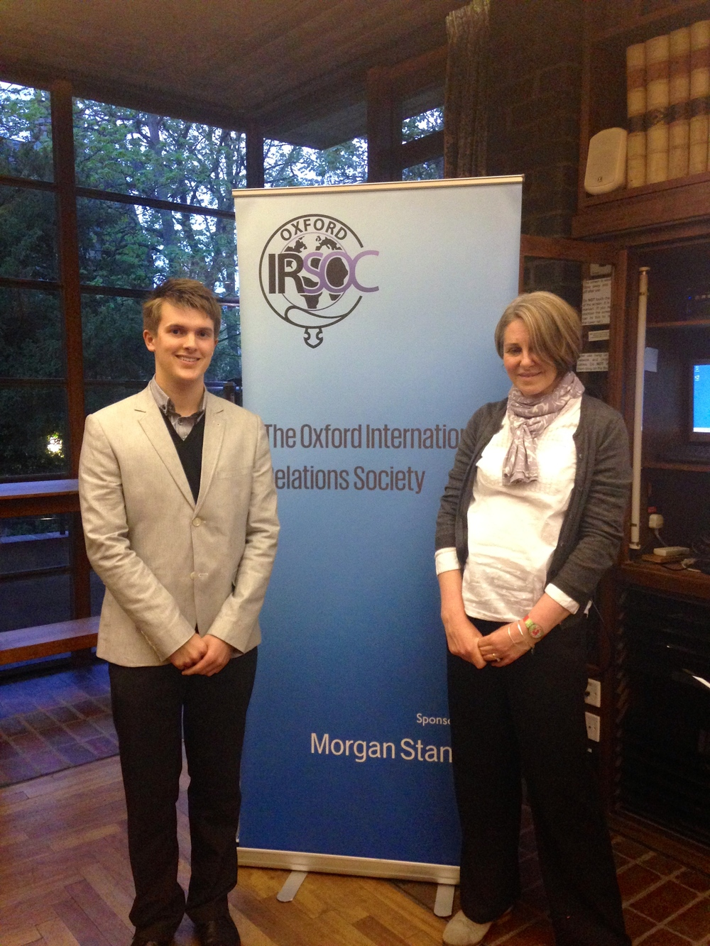 The President, Daniel Bayliss, with Natalie Martin