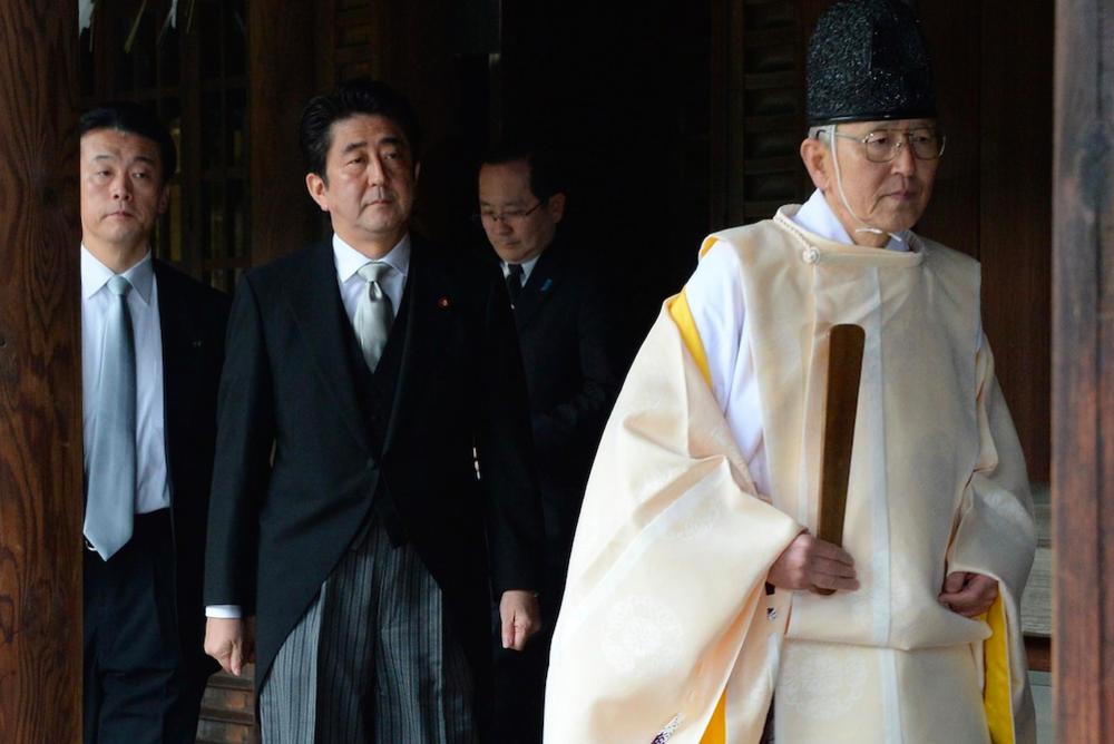 Shinzo Abe visits the controversial Yasukuni Shrine