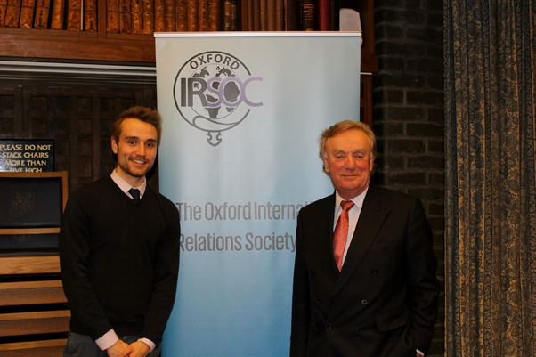 Sir Richard Ottaway and President, Robert Blackwell