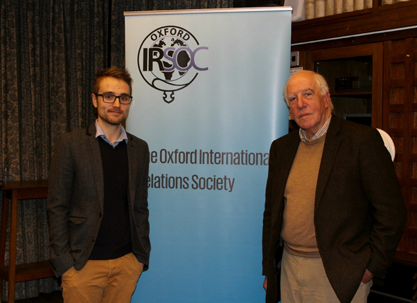 Sir Ivor Roberts and President, Robert Blackwell
