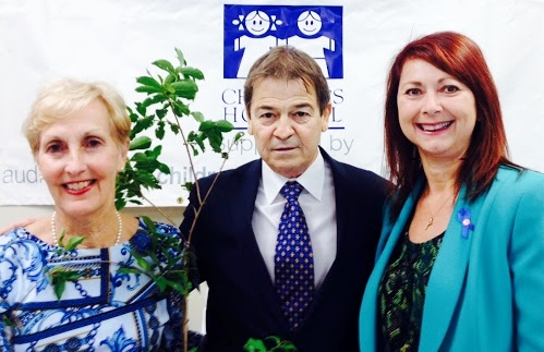 2015 Trees for Life Recipient Denis Rousselle with Cheryl Picou and Julie Olsen.