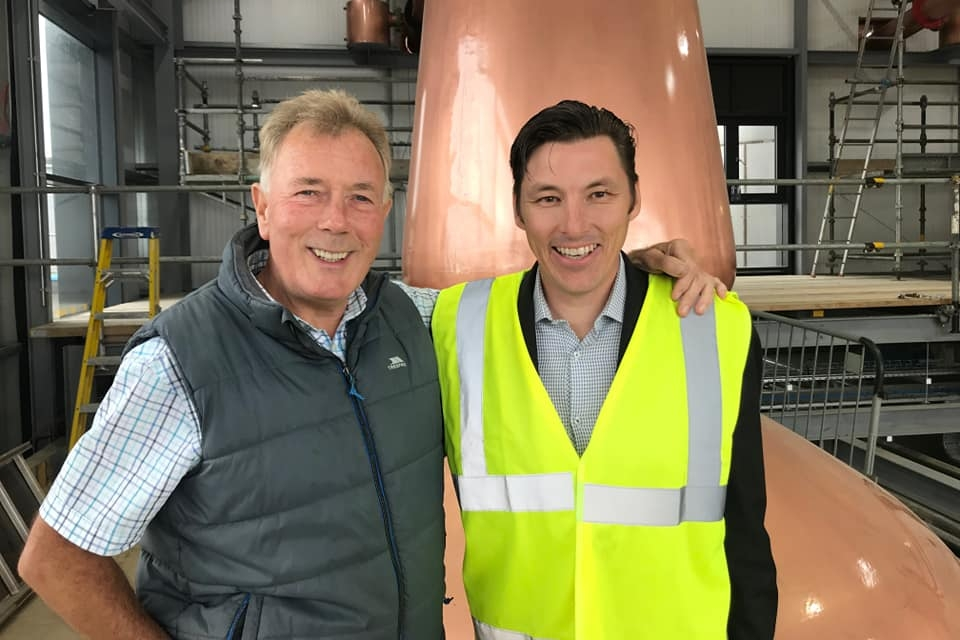 Jim McEwan and Sebastien Gavillet at Ardnahoe Distillery