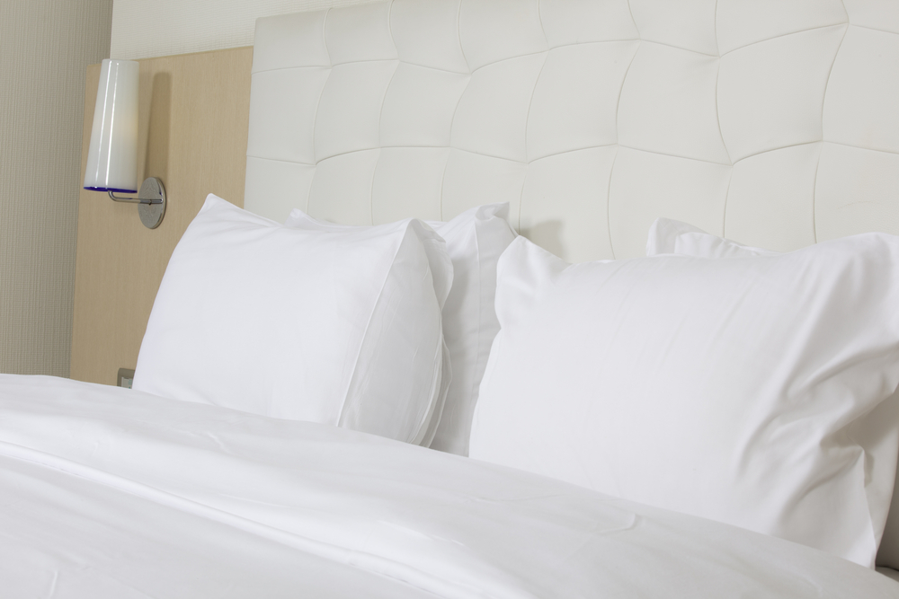 photo of hotel bed sheets