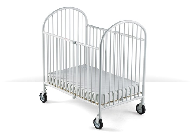 photo of steel portable crib for hotels