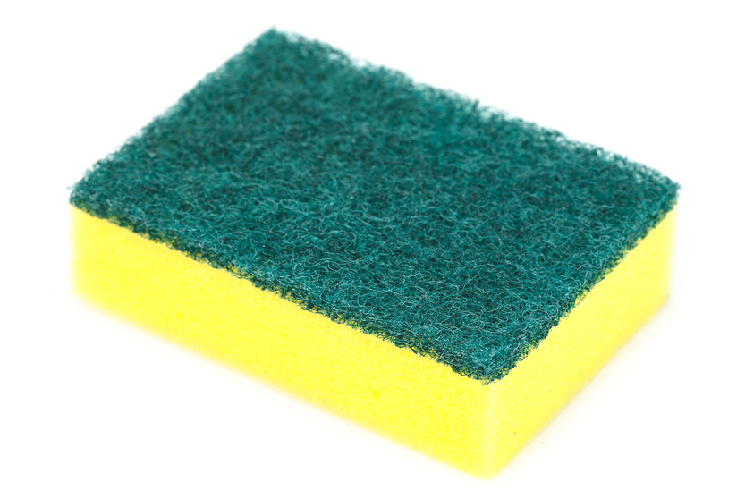 photo of cleaning sponge