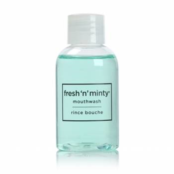Fresh N Minty® Mouthwash 1.5 fl oz Bottle, 90/cs