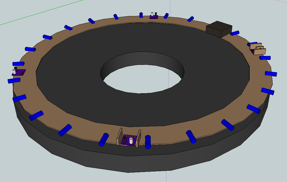 LED Ring Sketchup Concept