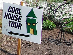 Cool House Tour sign