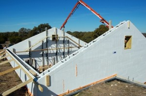 ICF wall before it's filled with concrete