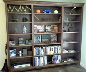 We love the bookcase LWi Custom Cabinets made for our new office.