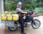 Wayne on BMW motorcycle