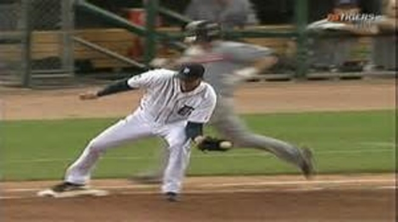 Angle One: Galarraga clearly reaches base before runner Jason Donald.
