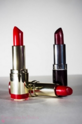 Every girl needs a good red lipstick in her purse...or three.