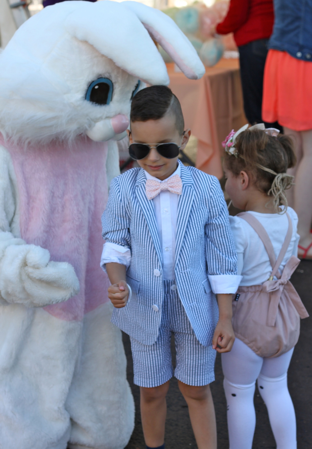 Pretty cheesy bunny, but kids love him right?