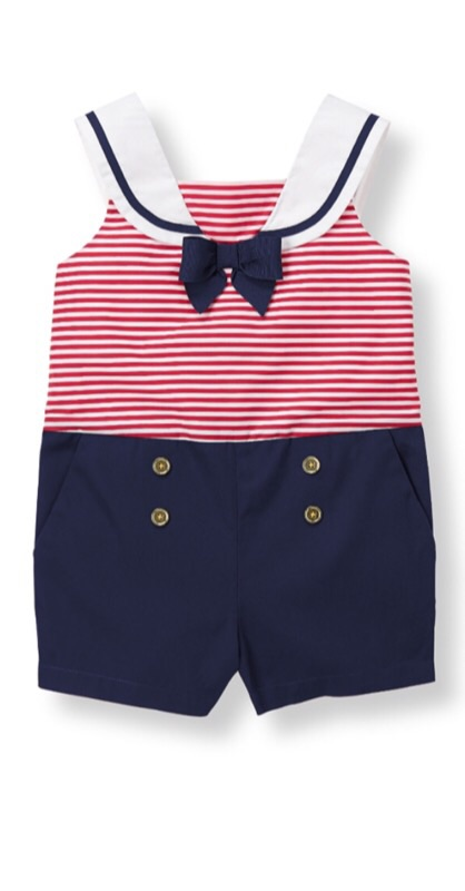 This  Janie and Jack romper  would make the cutest little patriotic sailor!