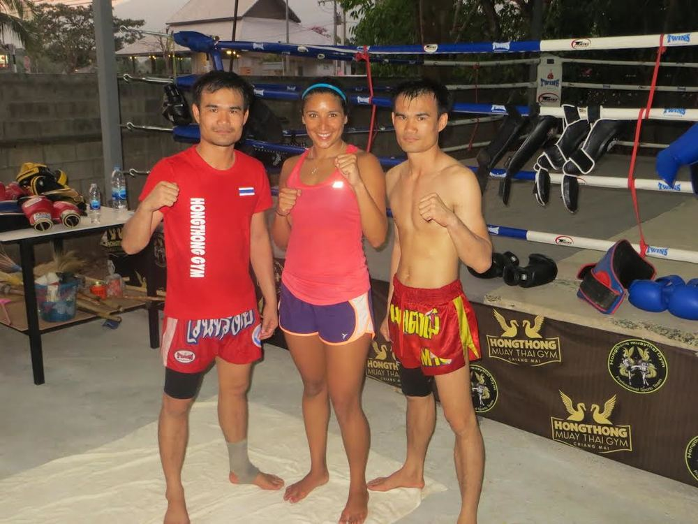A friend we met at our guest house in Thailand said we should try something different and convinced us to sign up for Muay Thai lessons. We got our butts kicked more than a few times by people half our size, but we made some great friends in the process.