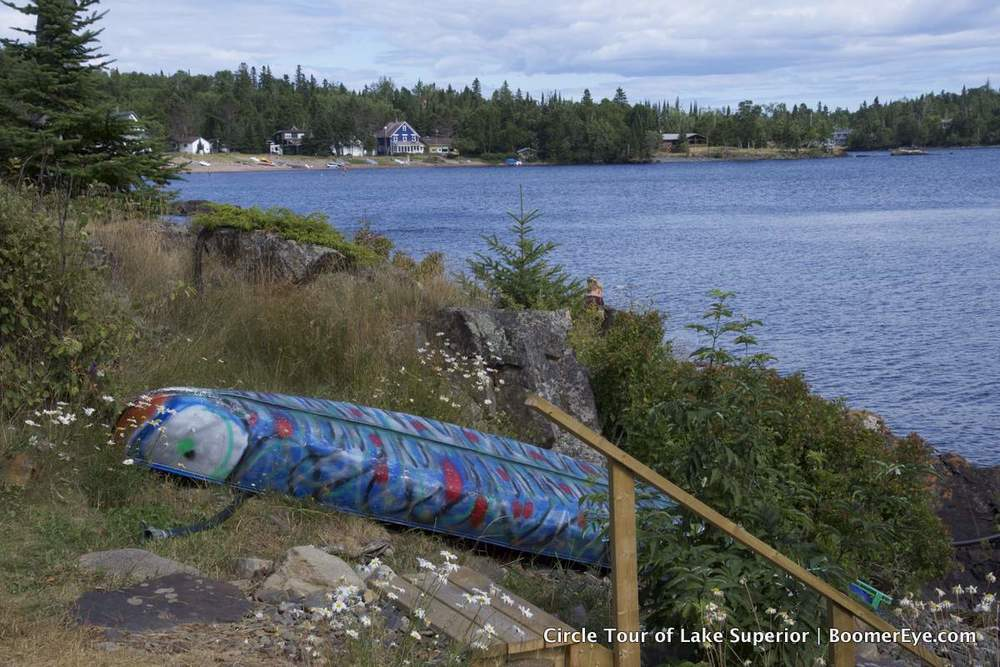 Artistic touches seen everywhere at Silver Islet, Ontario.