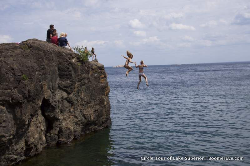 Presque Isle Cliff Jump by Mary Lascelles