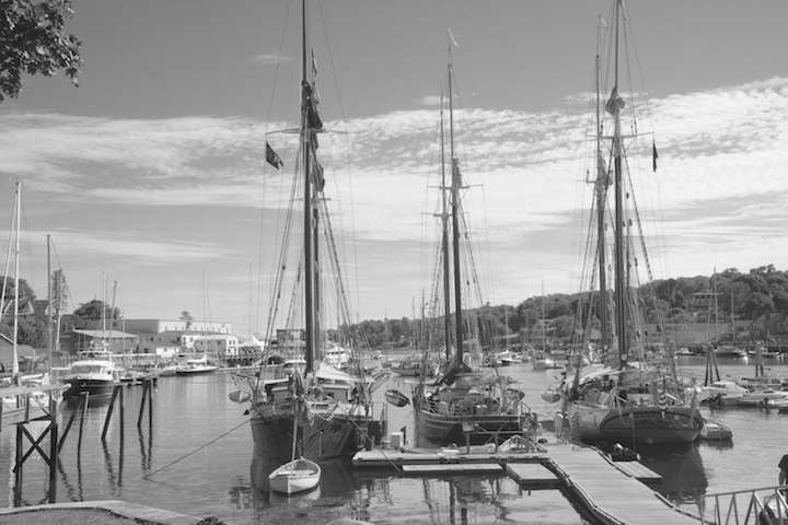 Maine is notorious for schooners. Here are 3 in Camden's harbor. | Photo by Mary Lascelles