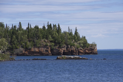 SILVER ISLET near THUNDER BAY, ONTARIO From my hometown in Minnesota, we headed north and had a grand night in Duluth (what a cool town!) prior to visiting my brother, sister-in-law, and niece in Thunder Bay, Ontario on Lake Superior. An afternoon jaunt to Silver Islet brought us to this beautiful spot. I kind of thought I'd died and gone to heaven. It was such a lovely community of cottages owned for eons by the same families - handed down through generations. It wouldn't have been complete without a picnic, on flat rocks draping down to Superior, including smoked fish, cheese, and tasty bread.
