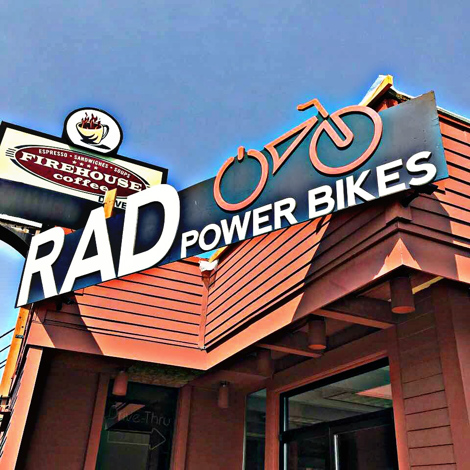 RAD POWER BIKES STORE in BALLARD, WA   This is where we purchased our bikes which were then shipped to us. We rode a couple different styles but both went for the FAT FOLDING MINIS as we LOVE the fact they fold for transport. While we have a pickup they can fit into, it is possible to also transport via SUV's. (
