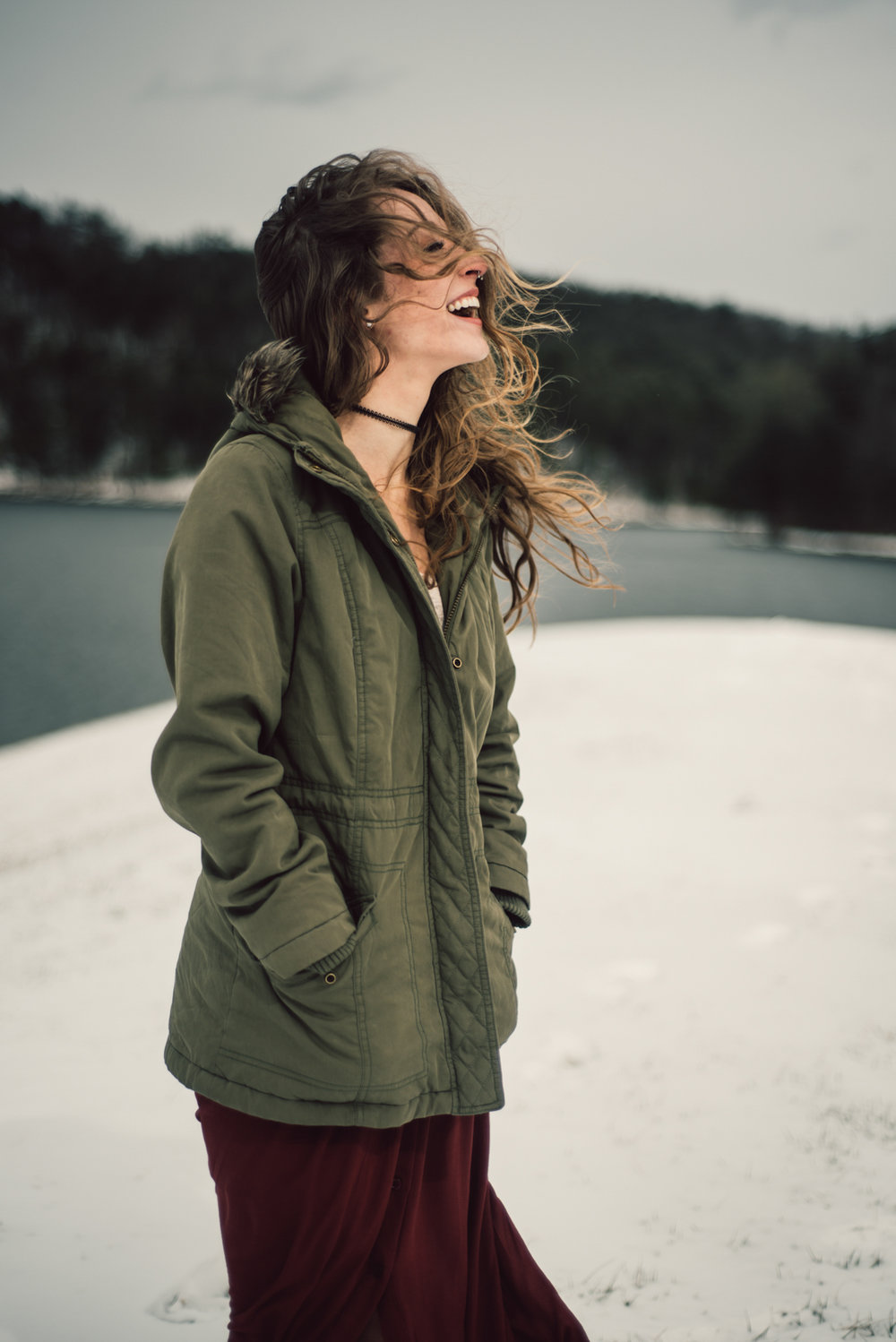 Moody Snowy Portrait Session at Lake Arrowhead in Luray Virginia_5.JPG