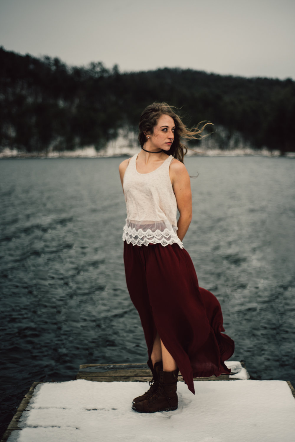 Moody Snowy Portrait Session at Lake Arrowhead in Luray Virginia_22.JPG