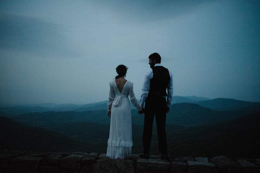 Lisa and Stuart - Post Wedding Couple Portraits - White Sails Creative - Blue Ridge Mountains - Sunrise Shenandoah National Park_7.JPG