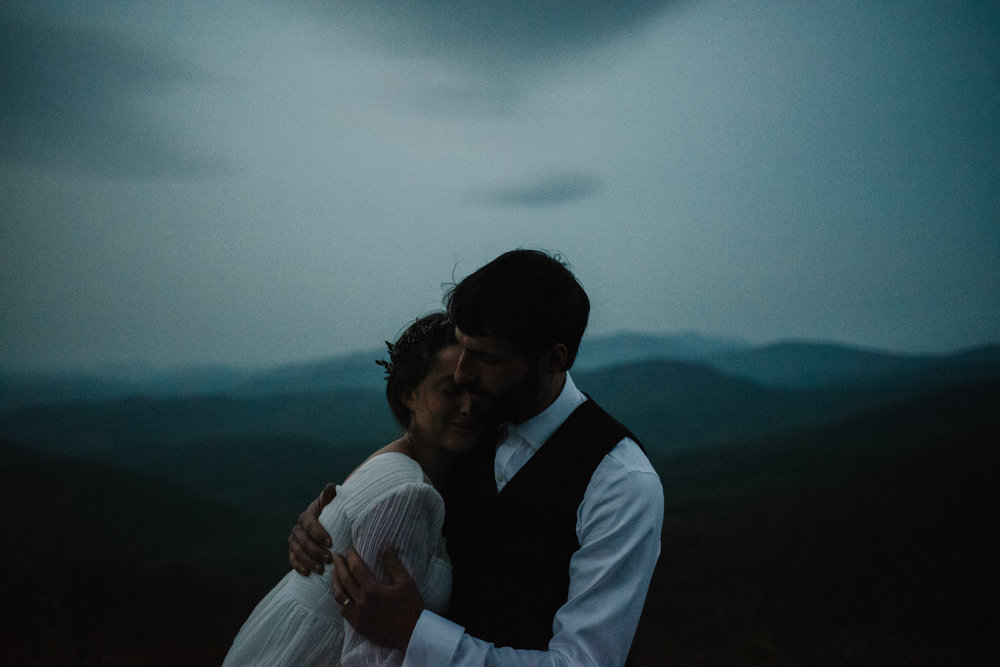 Lisa and Stuart - Post Wedding Couple Portraits - White Sails Creative - Blue Ridge Mountains - Sunrise Shenandoah National Park_15.JPG
