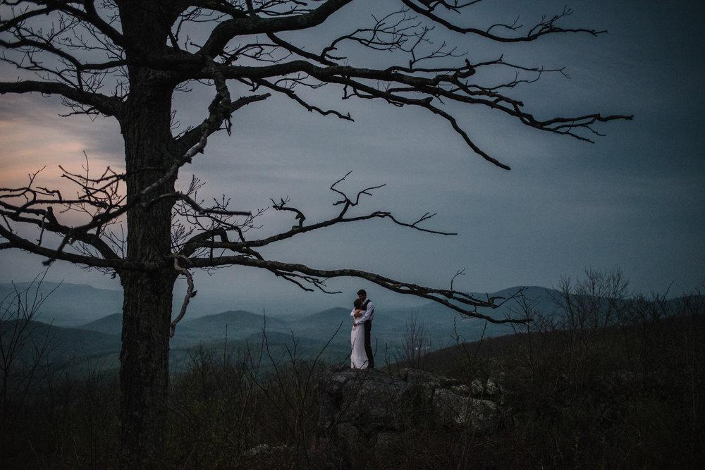 Lisa and Stuart - Post Wedding Couple Portraits - White Sails Creative - Blue Ridge Mountains - Sunrise Shenandoah National Park_21.JPG