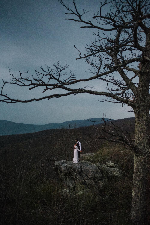 Lisa and Stuart - Post Wedding Couple Portraits - White Sails Creative - Blue Ridge Mountains - Sunrise Shenandoah National Park_22.JPG