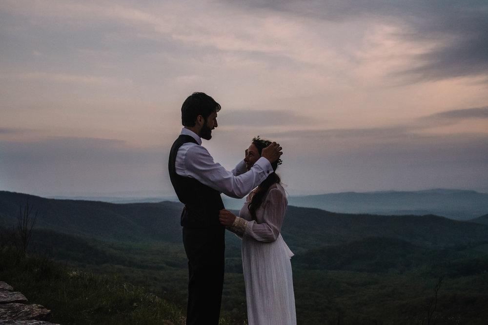 Lisa and Stuart - Post Wedding Couple Portraits - White Sails Creative - Blue Ridge Mountains - Sunrise Shenandoah National Park_28.JPG