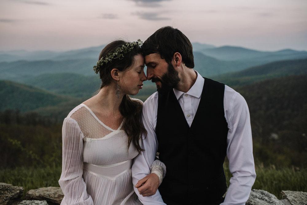 Lisa and Stuart - Post Wedding Couple Portraits - White Sails Creative - Blue Ridge Mountains - Sunrise Shenandoah National Park_29.JPG