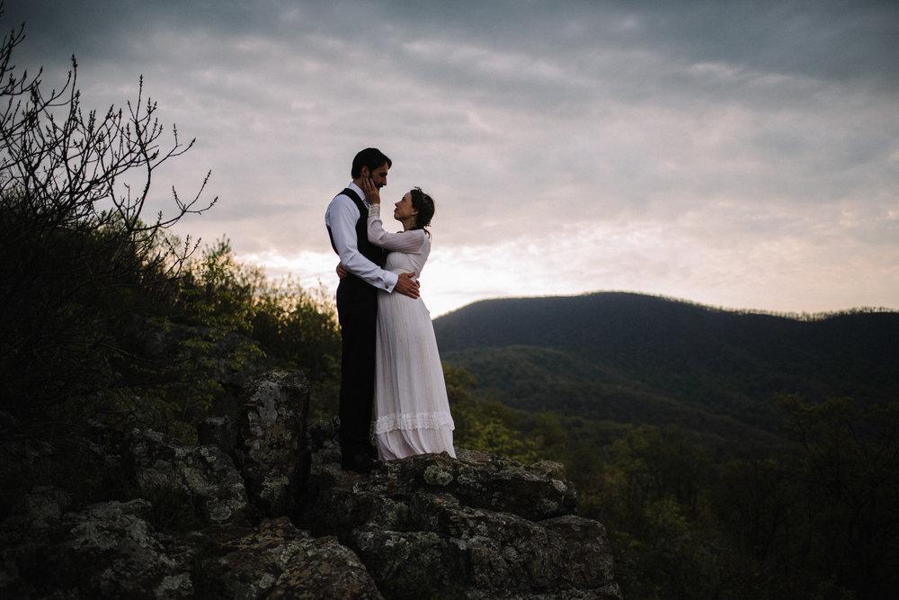 Lisa and Stuart - Post Wedding Couple Portraits - White Sails Creative - Blue Ridge Mountains - Sunrise Shenandoah National Park_45.JPG