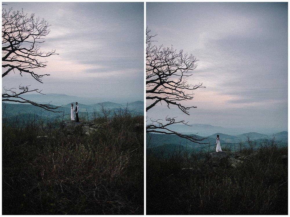 Lisa and Stuart - Post Wedding Couple Portraits - White Sails Creative - Blue Ridge Mountains - Sunrise Shenandoah National Park_25.jpg
