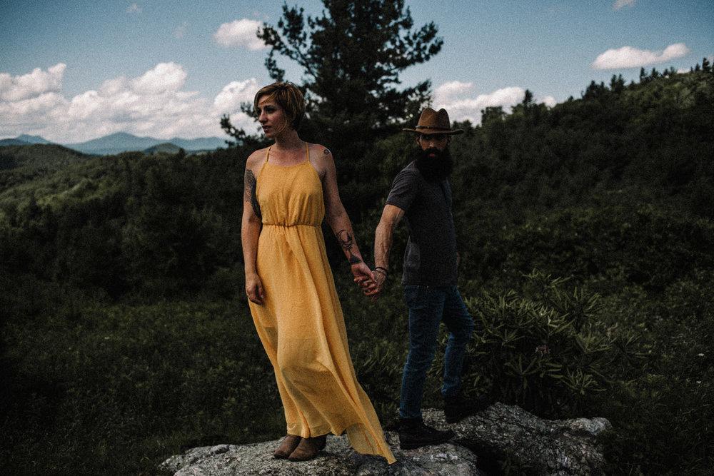 Justyn and Cj - Boone North Carolina - Blue Ridge Mountains - Adventure Couple Session - White Sails Creative_19.JPG