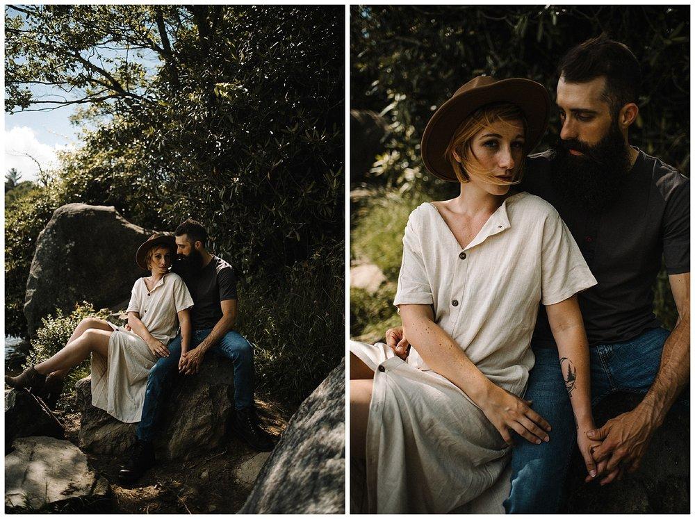 Justyn and Cj - Boone North Carolina - Blue Ridge Mountains - Adventure Couple Session - White Sails Creative_29.jpg